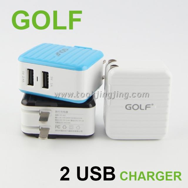 ที่ชาร์จ GOLF 2 USB CHARGER DP-301 ราคา 160 บาท ปกติ 400 บาท