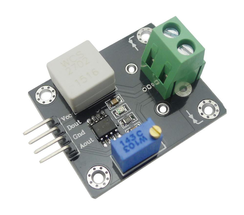 WCS2702 Hall Effect DC and AC Current Sensor Module (+/- 2A)