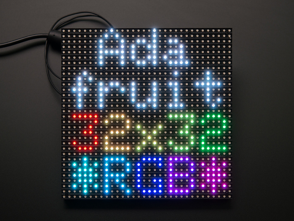 32x32 RGB LED Matrix Panel - 6mm Pitch (Adafruit) - Arduino, ขาย