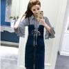 ชุดเดรสแฟชั่น set เสื้อและเดรสยีนส์น่ารักมากๆ ครับ