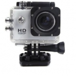 กล้องติดหมวก Action Camera สีเงิน