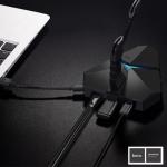 HOCO HB2 Scorpio 3 HUB USB แบบพกพา สีดำ
