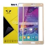 ฟิล์มกระจกนิรภัย Samsung Note 4 เต็มจอ ยี่ห้อ Diamond สีทอง