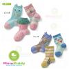 ถุงเท้ายาวเด็กลายสีสัน มีพื้นกันลื่น 003 ขนาด 9~12cm & 12~15cm เซต 3 คู่