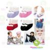 ถุงเท้าเด็ก Combi Mini ลายรองเท้า มีพื้นกันลื่น ขนาด 9-12cm เซต 4 คู่