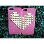 เคสประดับคริสตัสไอโฟน5/5S เหมาะสำหรับคู่รักสีชมพู (เคสข้างละ 120 บาท)