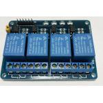 4 Channel Relay Module 5V 10A (หัวรีเลย์ยี่ห้อ Tongling รุ่น JQC-3FF-S-Z)