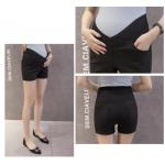 กางเกงคนท้องขาสั้นเอวต่ำ แบบเรียบสีพื้น- SP1706