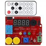 OPEN-SMART Rich Shield (Remote IR Control with receiver, LED, Buzzer, Buttons, Light Sensor, Temperature Sensor)