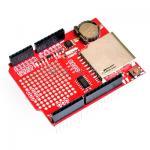 Data Logger Shield พร้อมถ่าน Red PCB