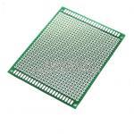 แผ่น PCB อเนกประสงค์สีเขียวแบบ 1 ด้าน ขนาด 7x9 cm