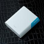 ABS/ARUN Y40 Power bank แบตสำรอง 10400 mAh สีฟ้า