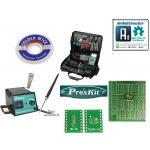 อุปกรณ์บัดกรีและแผ่น PCB