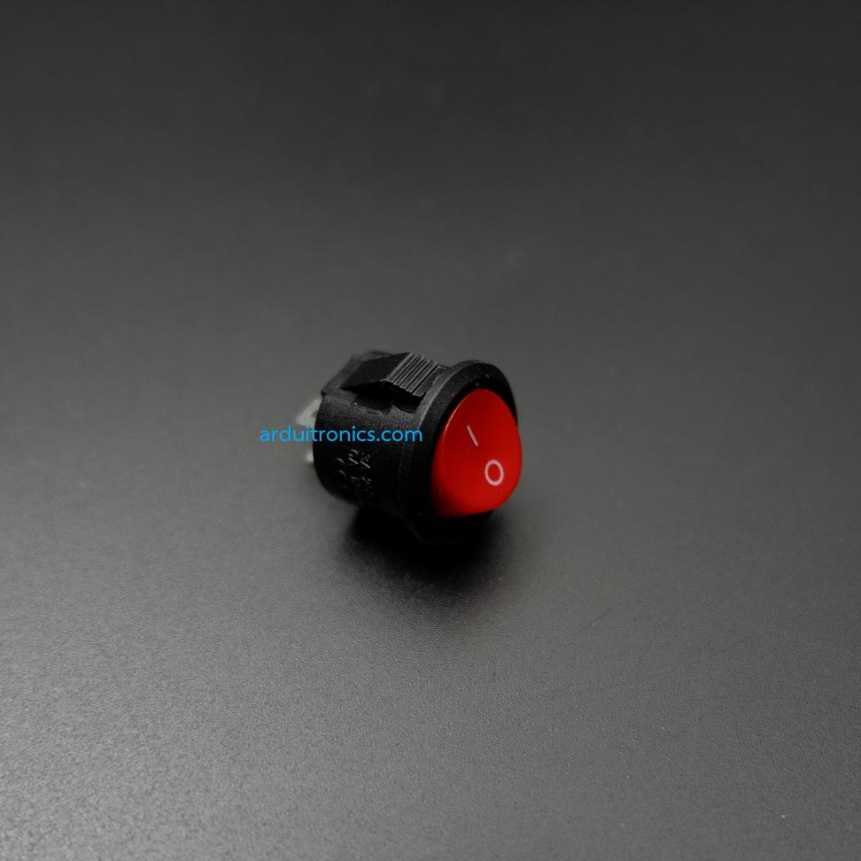 สวิตช์ไฟเปิด/ปิด Round Diameter 15mm/Outside diameter 16.5mm 3A 250V 2 ขา KCD1 - สีดำ-แดง