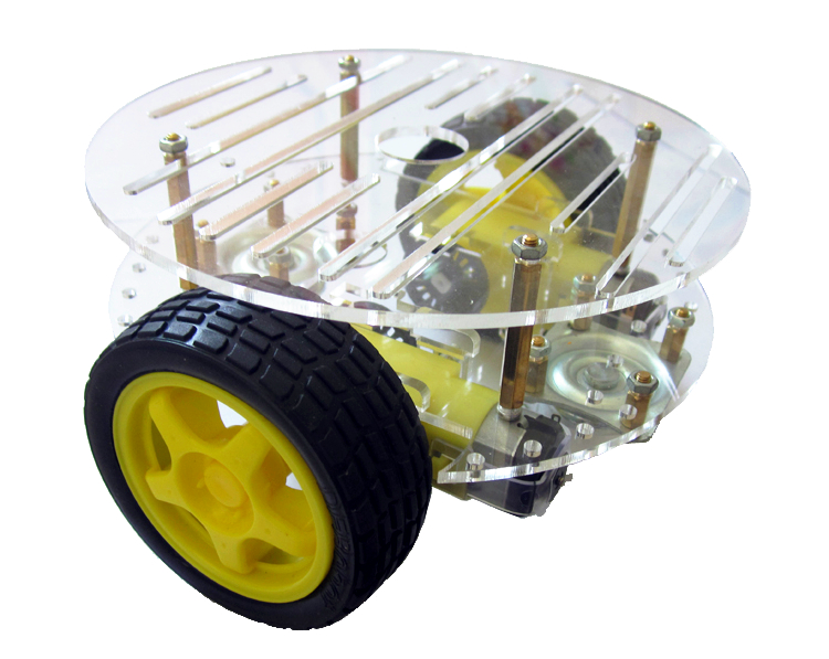 2WD Smart Car Chassis - แบบ 2 ชั้น มาพร้อม Speed Encoder