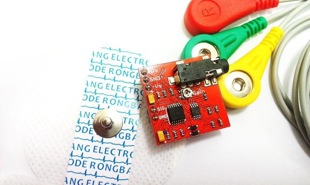 EMG Muscle Sensor Module + Free Electrode Pads