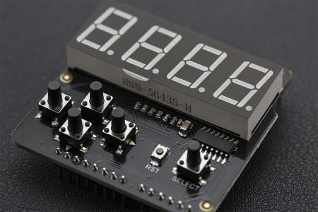 7 Segment LED Keypad Shield For Arduino (ของ DFRobot)