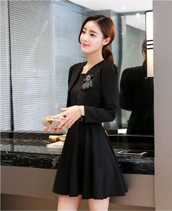 ชุดเดรสสีดำ set เสื้อสูท และเดรสสวยสุภาพครับ