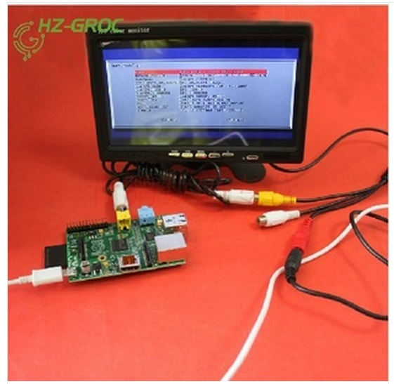 7-inch LCD screen TFT with AV cable for Raspberry Pi Type B2 generation