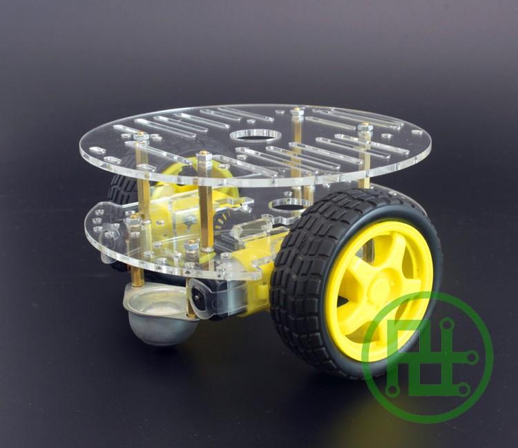 2WD Smart Car Chassis ล้อทรงกลม - แบบ 2 ชั้น มาพร้อม Speed Encoder