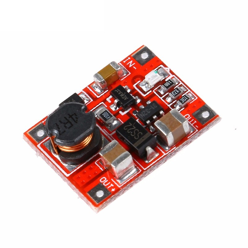DC-to-DC Step Up Module (1-5V to 5.1-5.2V) - Red PCB