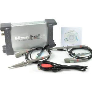 Hantek 6022BE (20 MHz, 48 MS/s) Oscilloscope + 2 Probe sets and USB Cable