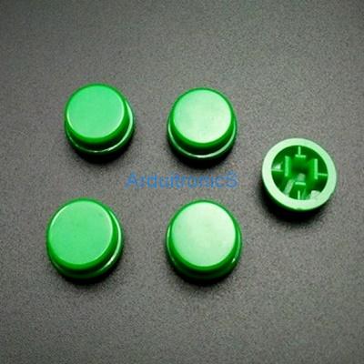 สีเขียว B3F Tactile Switch Cap Round Button Cap 12x12x7.3mm แพค 5 ตัว