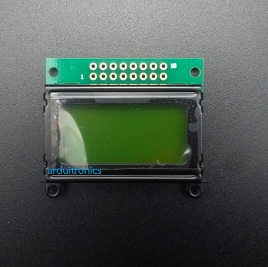 LCM0802C 5V 8x2 Character LCD 0802 (Yellow-Green with Backlight)
