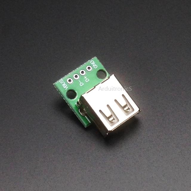 USB 2.0 Female to DIP Converter Breakout