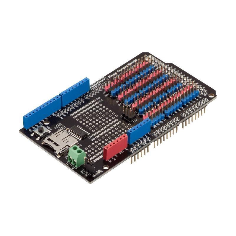 Arduino MEGA 2560 Sensor Shield with SD-Card Logger