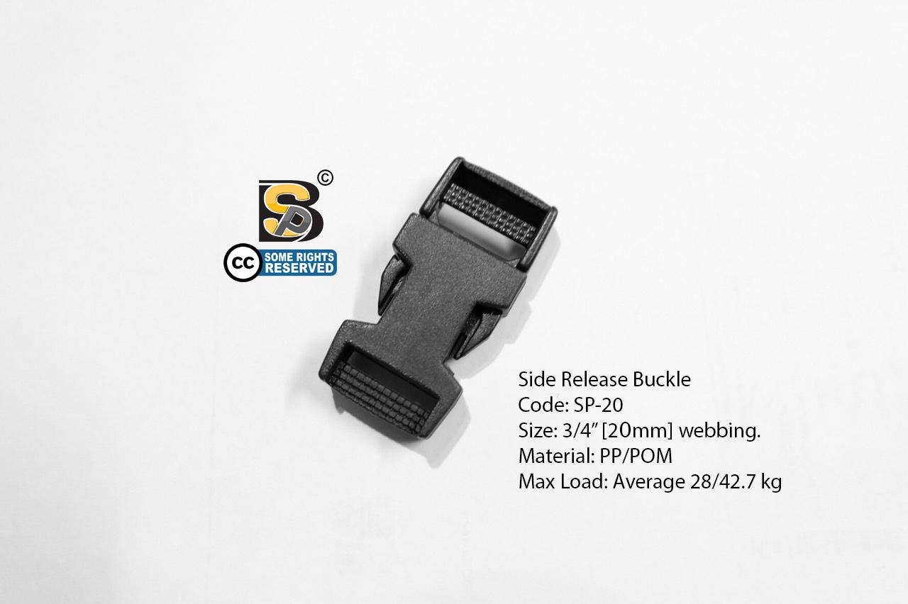 ก้ามปู 6 หุน (นิ่ม) / Side Release Buckle 3/4