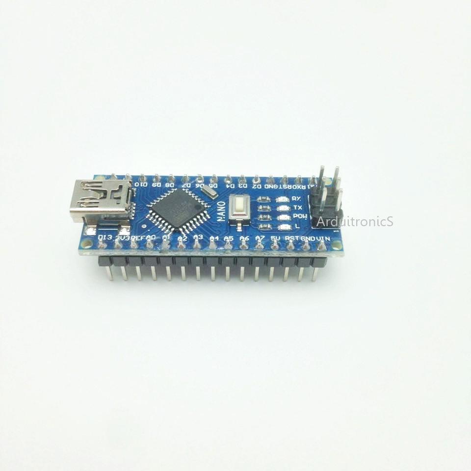 Nano V3 ATMega328P CH340G บัคกรีแล้ว (มีคำว่า Nano บน PCB) + Free mini USB Cable