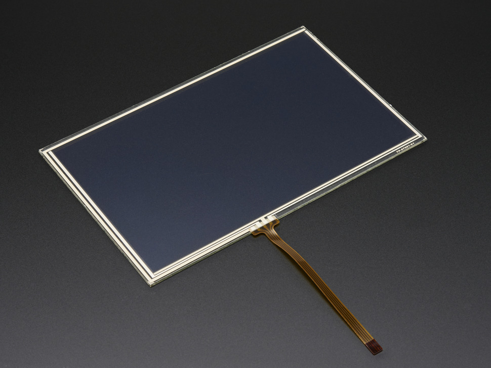 "Resistive Touchscreen Overlay - 7"" Diag. 165mm X 105mm - 4 Wire (Adafruit)"