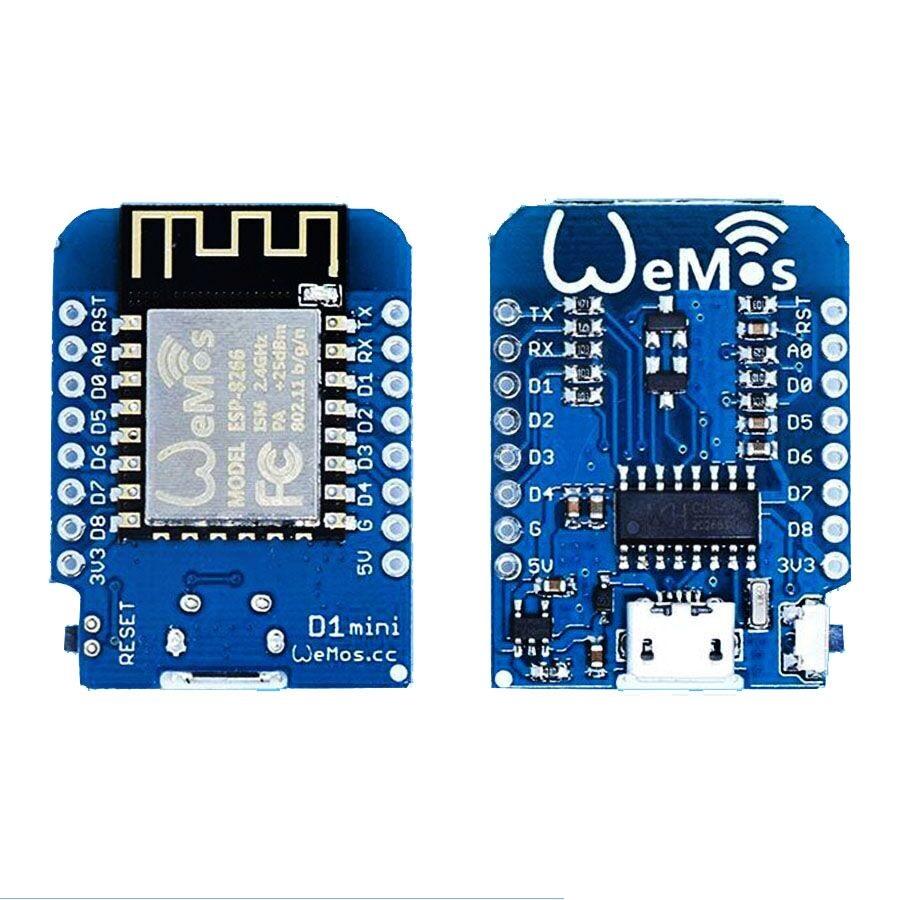 WeMos D1 Mini V2 (NodeMCU based ESP8266) + Free Pin Headers