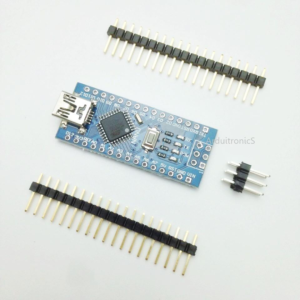 Nano V3 ATMega328P CH340G ยังไม่บัคกรี (มีคำว่า Nano บน PCB) + Free mini USB Cable