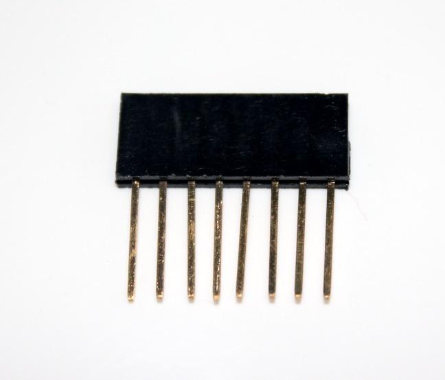 1X8 Pin 11mm Long Single Row Female Header 2.54mm Pitch Straight