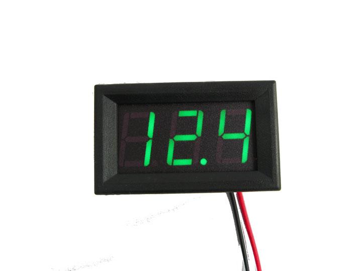 """DC Digital Voltmeter Module 0.56"""" DC4.5V-30.0V (Green Color)"""