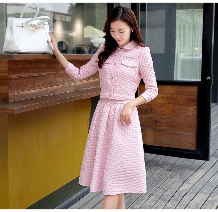 เสื้อผ้าแฟชั่น set เสื้อ และกระโปรงสีชมพูสวยมากๆ