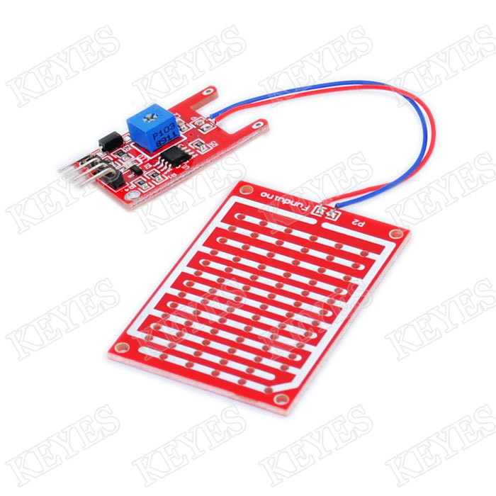 Raindrop Humidity Test Sensor Module Red PCB