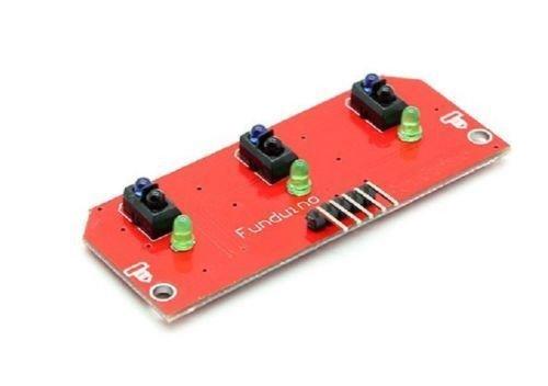 3-Way Infrared Line Tracking Module (โมดูลตรวจจับเส้นขาวดำสำหรับ Smart Car/Robot) - TCRT5000 Sensor