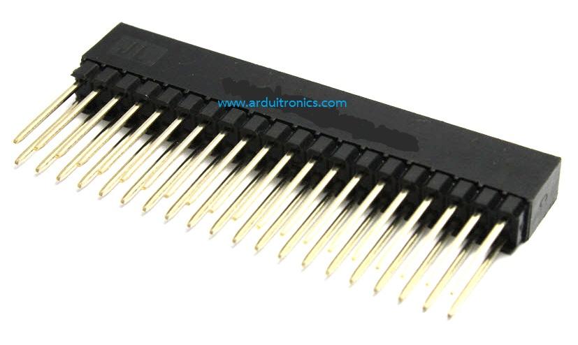 2x20pin 2.54mm Long Stackable Female Header for Raspberry Pi B+ / A+ / Pi 2ฺB (แถวคู่, ขายาว)