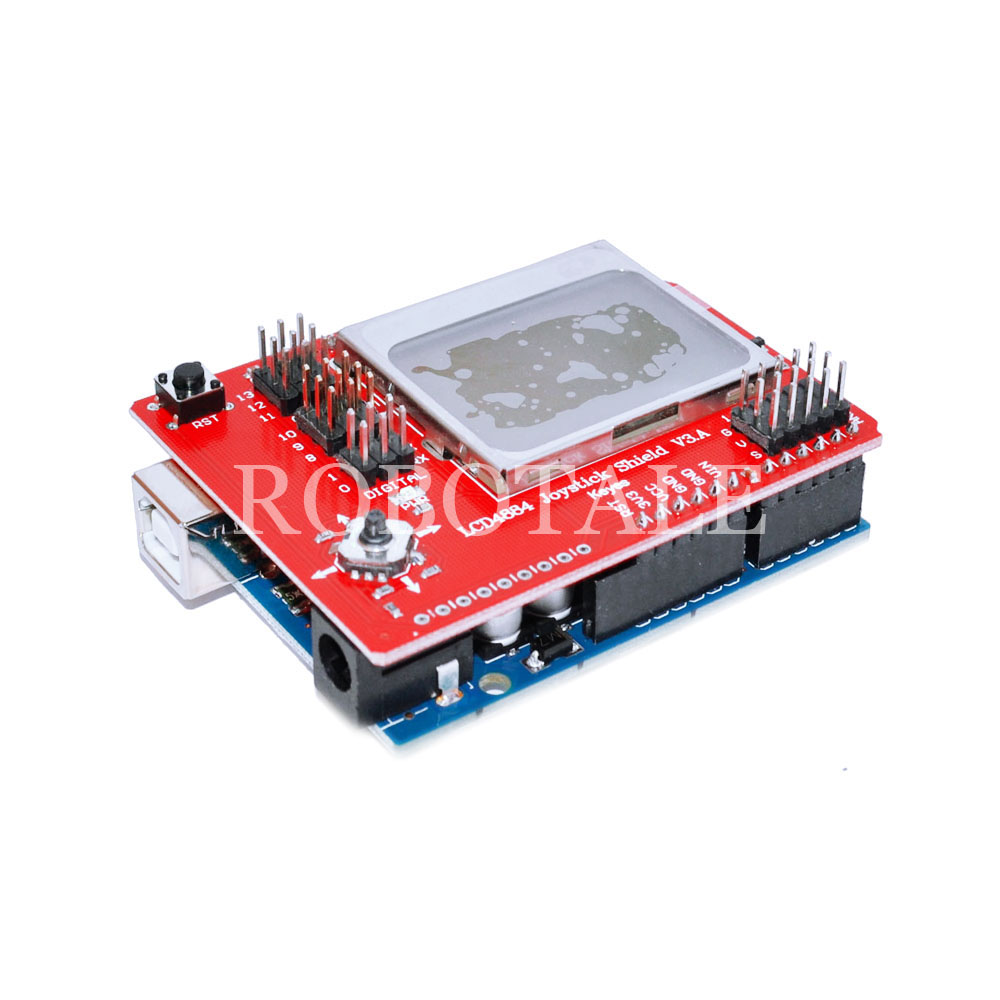 Keys Graphic LCD 4884 Shield For Arduino