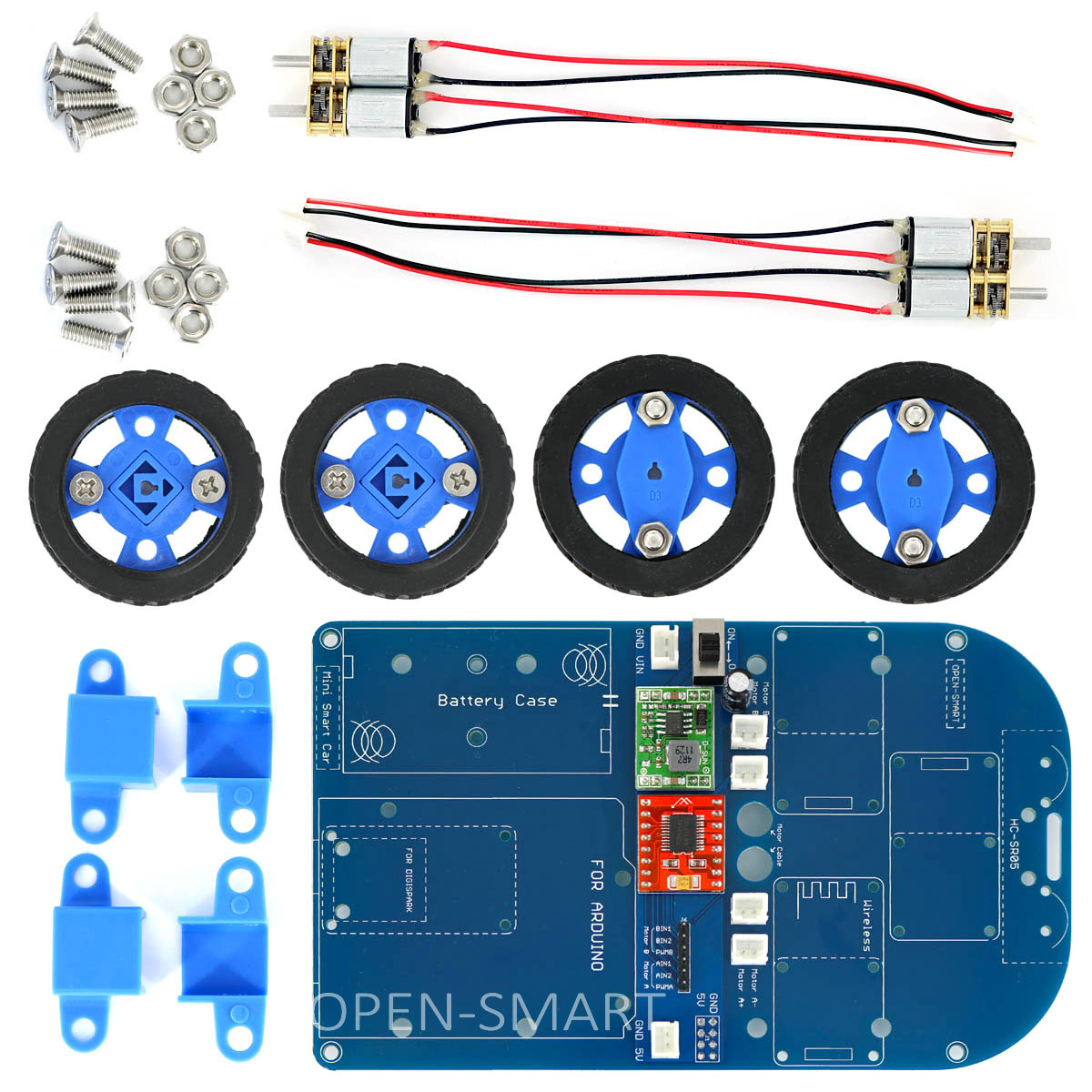 N20 Geared Motor 4WD Bluetooth Control Smart Robot Car Kit Chassis