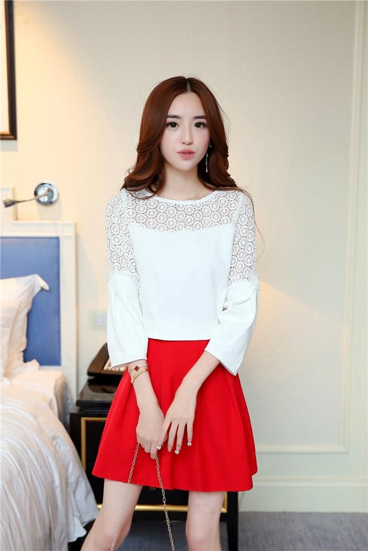 แฟชั่นเกาหลี set เสื้อ และกระโปรง สวยมากครับ