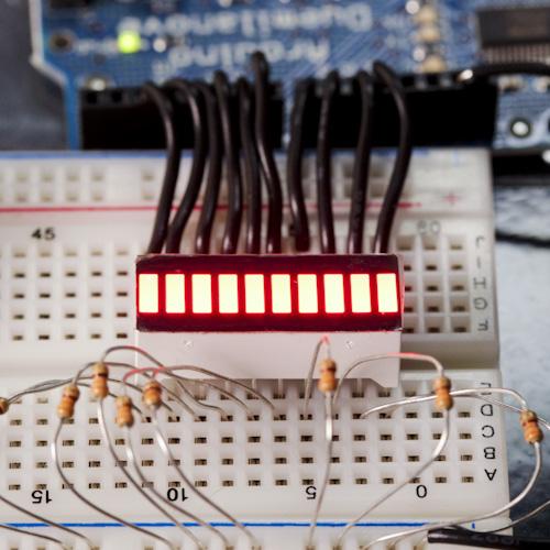 Red 10 Segment LED Bar Graph (สีแดง)