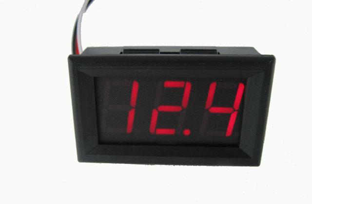 """DC Digital Voltmeter Module 0.56"""" DC4.5V-30.0V (Red Color)"""