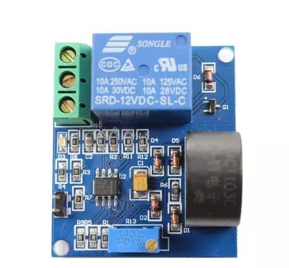 5A Over-Current Detection Sensor Module (AC Current Detector with 12V Relay)