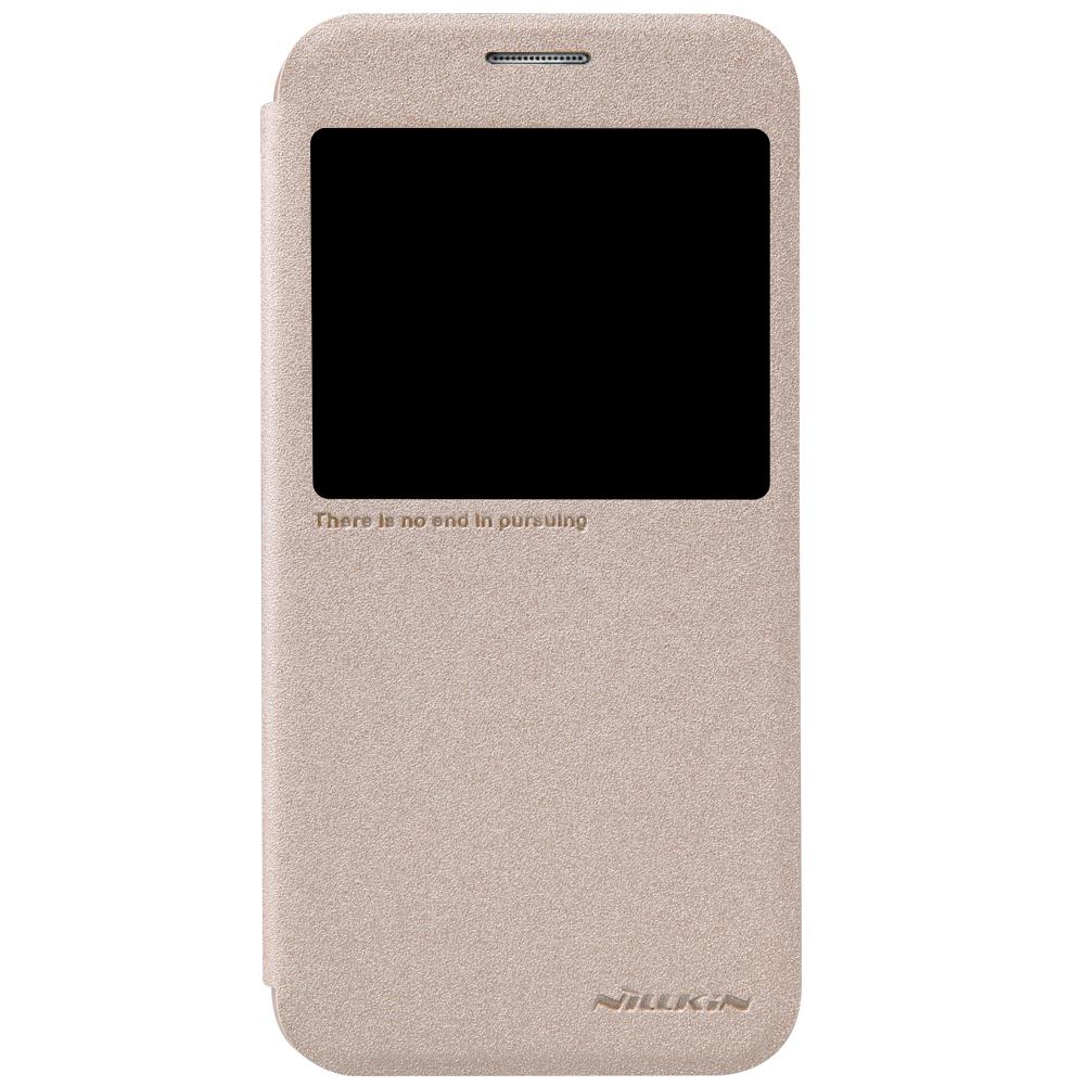 เคสซัมซุงS6 เคสS6 ฝาพับ nillkin Sparkle Leather Case สีทอง