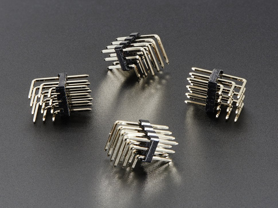 3x4 Right Angle Male Header - 4 pack (Adafruit)