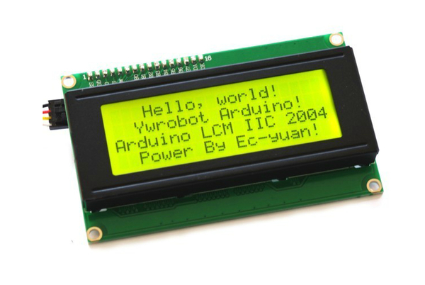 LCD 2004 Module 20x4 (Yellow-Green Backlight) + I2C Interface